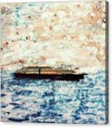 Big Black Ship Acrylic Print