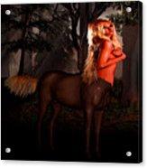 Big Blonde Centaur Acrylic Print
