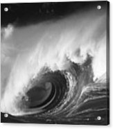 Big Breaking Wave - Bw Acrylic Print