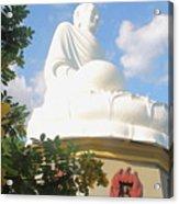 Big Buddha Statue At The Long Son Pagoda In Nha Trang Vietnam Acrylic Print