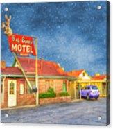 Big Bunny Motel Acrylic Print by Juli Scalzi