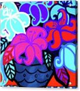 Big Colorful Lillies 2 Acrylic Print