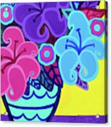 Big Colorful Lillies Acrylic Print
