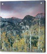 Big Cottonwood Canyon Sunrise Acrylic Print