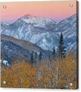 Big Cottonwood Canyon Wasatch Sunrise Acrylic Print