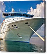 Big Docked Cruise Ship View Acrylic Print