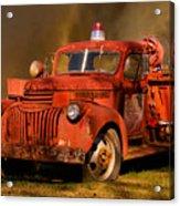 Big Fire - Old Fire Truck Acrylic Print