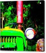 Big Green Tractor 2 Acrylic Print