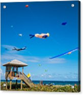 Big Kites Delray Beach Acrylic Print