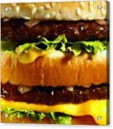 Big Mac - Painterly Acrylic Print
