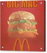 Big Mac Poster Acrylic Print