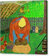 Big Mama Sorting Potatoes Acrylic Print