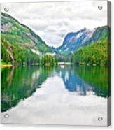 Big Mountain Reflections In Patterson Bay Alaska Acrylic Print
