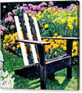 Big Old Chair Evening Light Acrylic Print