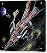 Big, Old Space Shuttle Of Dead Civilization Acrylic Print