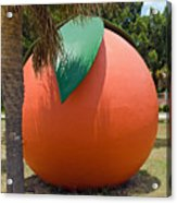 Big Orange At Melbourne On The East Coast Of Florida Acrylic Print