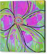 Big Pop Floral IIi Acrylic Print by Ricki Mountain