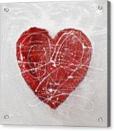 Big Red Heart Acrylic Print