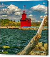 Big Red Lighthouse In Michigan Acrylic Print