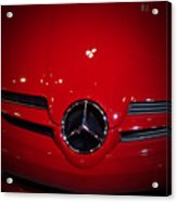 Big Red Smile - Mercedes-benz S L R Mclaren Acrylic Print