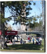 Big Red Wagon In Riverfront Park Acrylic Print
