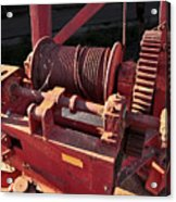 Big Red Winch Acrylic Print