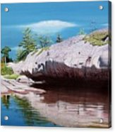 Big River Rock Acrylic Print