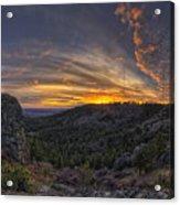 Big Rock Panorama Acrylic Print