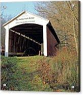 Big Rocky Fork Bridge Indiana Acrylic Print