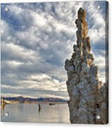 Big Sky And Tufa, Mono Lake, California Acrylic Print