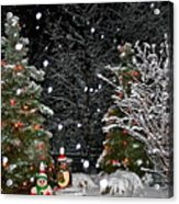 Big Snow Flakes    Holiday Card 6 Acrylic Print
