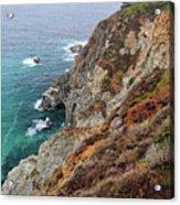 Big Sur Colorful Sea Cliffs Acrylic Print