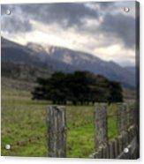Big Sur Fence Line Acrylic Print