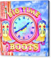 Big Time Boots - Nashville Hot Pink Acrylic Print