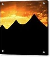 Big Top Sunset Acrylic Print