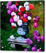 Big Vase With Peonies Acrylic Print