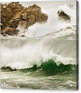 Big Waves Comin In Acrylic Print
