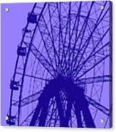 Big Wheel Blue Acrylic Print