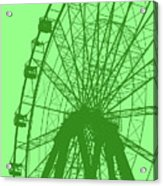 Big Wheel Green Acrylic Print