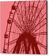 Big Wheel Red Acrylic Print