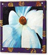 Big White Flower Acrylic Print by Grace Matthews