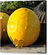 Big Yellow Balls Acrylic Print