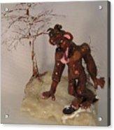 Bigfoot On Crystal Acrylic Print
