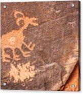 Bighorn Petroglyph Acrylic Print