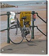 Bike Against Railings Acrylic Print