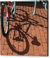 Bike And Bricks  Acrylic Print