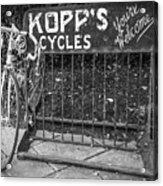 Bike At Kopp's Cycles Shop In Princeton Acrylic Print