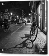 Bike Between Lights And Shadows, Netherlands Acrylic Print
