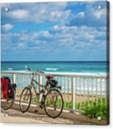 Bike Break At The Beach Acrylic Print