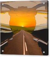 Bike Canyon Highway Acrylic Print